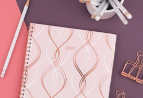 Monthly Planner with notebook pages
